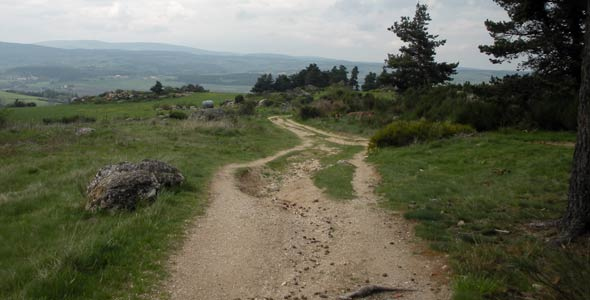 path to Saugues, France