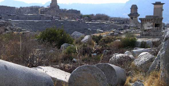 webshot at xanthos in lycia, Turkey