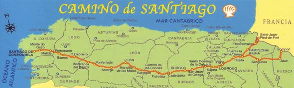 SPAIN | longwalking on camino santiago map, el camino map, middle ages pilgrimage map, camino trail map, camino pilgrimage map,